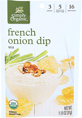 French Onion Soup Chicken - Simply Organic Dip Mix, French Onion, 1.1 oz, (pack of 3)