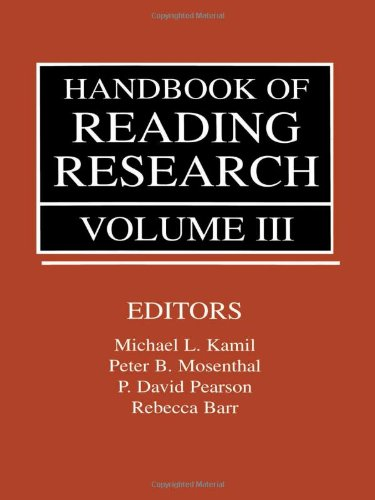Handbook of Reading Research, Volume III (Volume 3) by Routledge