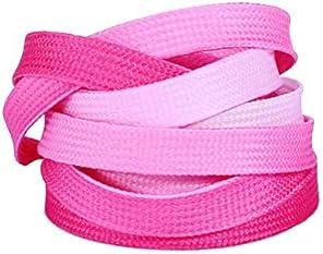 ファッショングラデーションピンク運動靴紐交換靴紐