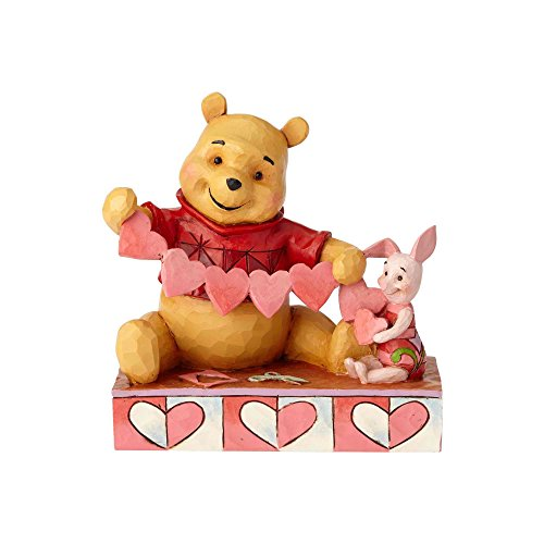 Jim Shore Disney Traditions by Enesco 4059746 Pooh and Piglet Heart Figurine