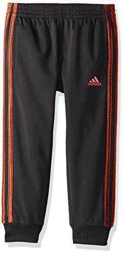 adidas Boys' Little Tricot Jogger Pant, Imapact Adi Black/Active Red, 5