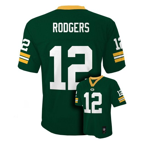 Aaron Rodgers Green Bay Packers Green NFL Toddler 2016-17 Season Mid-tier Jersey (Toddler 3T)