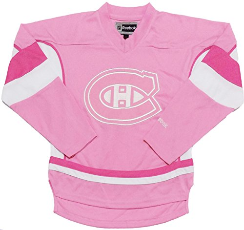 Outerstuff Montreal Canadiens Youth Pink Girls Team Logo Replica Jersey (X-Large ()