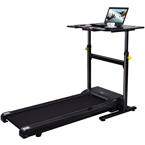 Gymax Walking Running Exercise Treadmill w/ Height Adjustable Desk Fitness Jogging Machine for Home Office