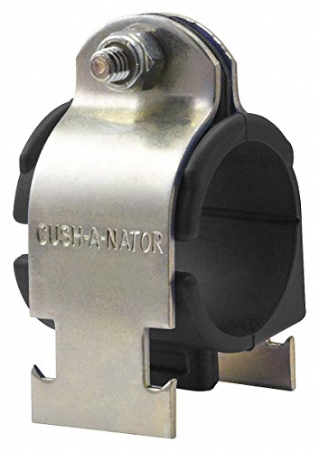 Cushioned Clamp, Std, 1-1/2 in. Pipe, Steel (3 Pieces) ()