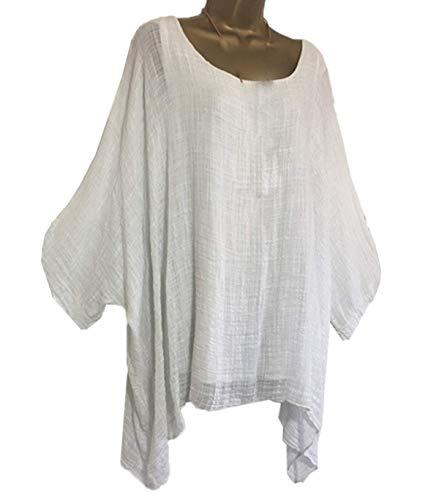 Blouse Femmes Hauts Casual Printemps Souris Tee Blanc Lache Chauve Rond Shirt Automne Tops Manche Mode Blouses Col Chemisiers T SwwZqE