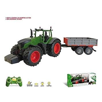07430eb82522d0 modo Tracteur radiocommandé + remorque RADIOCOMMANDE avec Son ET Lumiere