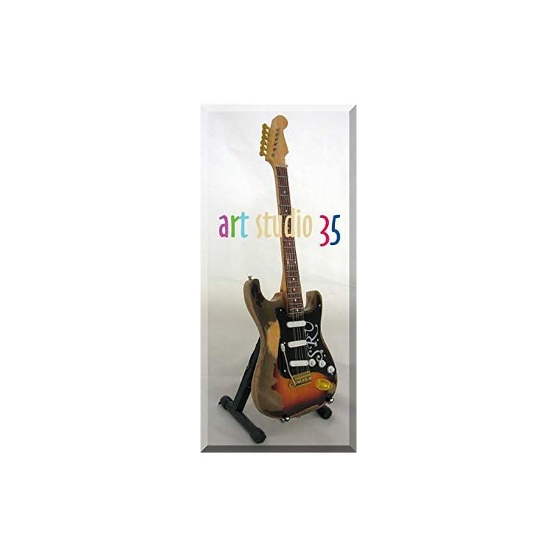 STEVIE RAY VAUGHAN Miniature Guitar SRV Italic w/Name Tag