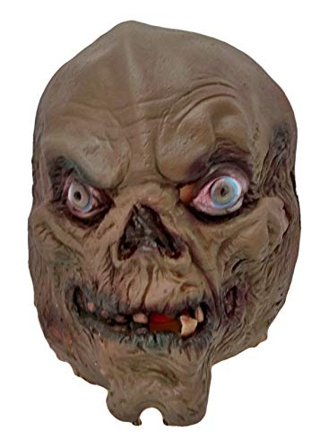 Child Crypt Keeper Latex FACE MASK Costume 7556M Brown -