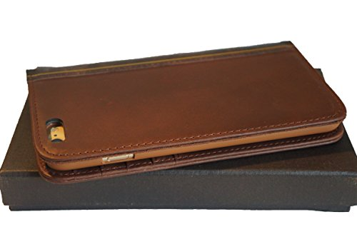 CHAPTER XVI THE BOOK for iPhone 6 Plus (5.5 inch) - Genuine Vintage Leather iPhone 6 Plus Case with Wallet (Vintage Brown) by CHAPTER XVI (Image #1)