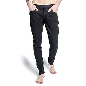 Criminal Damage Mens With Skeleton Hands Skinny Fit Black/Pink Jeans - 26