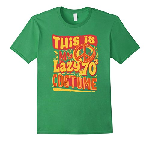 Easy Lazy Halloween Costumes (Mens Easy Halloween Costume For Adults Lazy 70's Costume T-Shirt Large Grass)