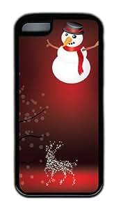 Customized Case Xmas Art Elements TPU Black for Apple iPhone 5C