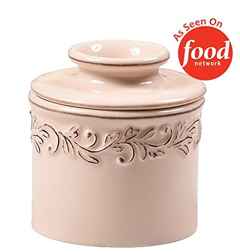 Bell Bottom Glass - The Original Butter Bell Crock by L. Tremain, Antique Collection - Ivory Rose