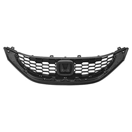 Sedan Grille Grill (Front Upper Textured Black Grill Grille Assembly for 13-15 Honda Civic 4dr Sedan)