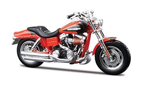 Harley-Davidson 2009 CVO Fat Bob 1:18 Scale Model Ser 28 Orange (Motorcycles Davidson Harley Boys)