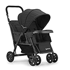 JOOVY Caboose Too Graphite Stand-On Tandem Stroller, Black. When your toddler outgrows the seat, just remove the rear seat and let him sit on the bench or stand on the platform. Joovys sit and stand stroller was built to last, with a strong a...
