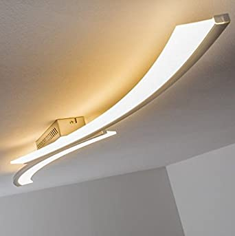 Zzylight Moderno Led Ceiling Light Long Sleek For Bedroom