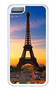iPhone 5c case, Cute Eiffel Tower Of The Evening iPhone 5c Cover, iPhone 5c Cases, Soft Whtie iPhone 5c Covers