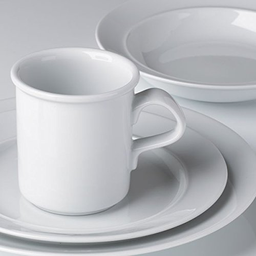 Dansk 40884WH Cafe Blanc Dinnerware Place Setting44; 4 Piece
