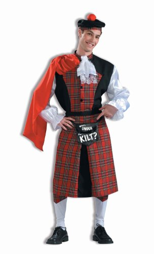 Scotsman Costume (Forum Novelties What's Under The Kilt Adults Only Costume, Red/Black, One Size)