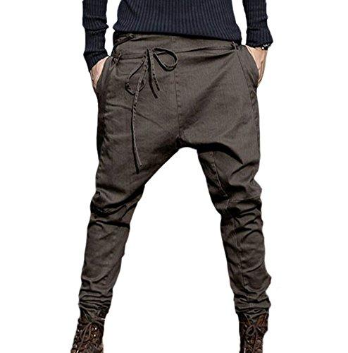 Homme Brown Lâche Rétro De Sarouel Survêtement Pantalon Pirate Famesale Décontracté g0wqzHO