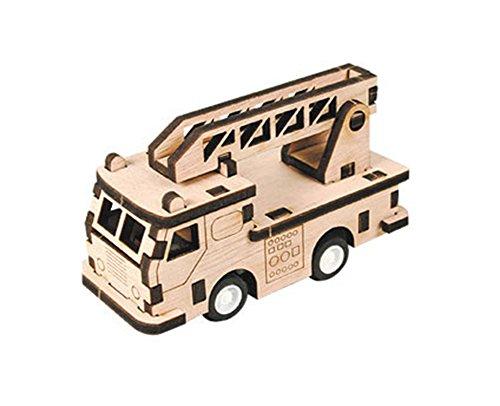 Desktop Wooden Model Kit Run! Fire Truck / YG861-26