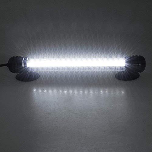 Mingdak LED Aquarium Light for Fish Tanks,18 LEDs,7.5-Inch,Output 12V/0.5A Brighter Than 5V/1A,White Lighting