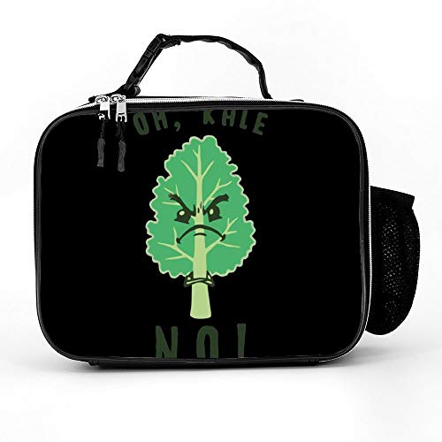 Welkoom Lunch Bag With Oh Kale No Funny Meme Gift Tee Lunchboxs For Women|Durable Thermal Lunch Cooler Pack With Strap For Boys Men Women Girls -