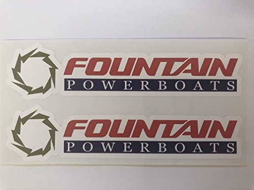 Speed Fountain Boats (2 Color Fountain Boats Decals by SBDdecals.com)