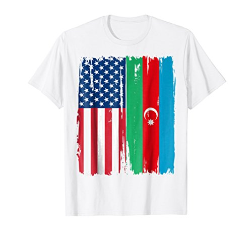 USA Azerbaijani Flag T-Shirt