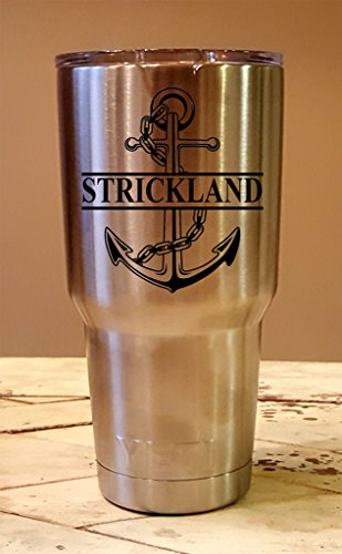 Personalized YETI 30 oz.Tumbler Split Anchor CUSTOM Laser Engraved