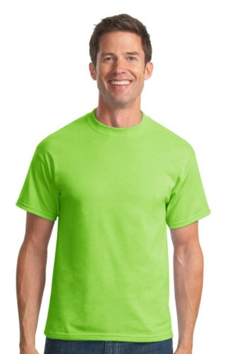 Port & Company Mens 50/50 Cotton/Poly T-Shirt PC55 -Lime L
