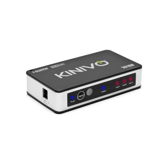 Kinivo-HDMI-Switch-301BN-Premium-3-Port-Wireless-Remote-AC-Power-Adapter