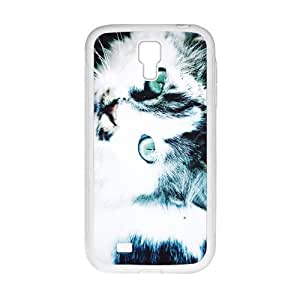 Cute Cat Fashion Creative White Phone Case for Samsung Galaxy S4