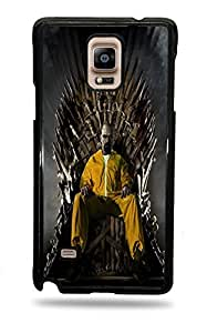 Walter White Game Of Thrones Galaxy Note 4 Black Silicone Case