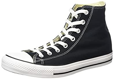 Converse All Star HI Unisex Canvas Style# M9160-black (5.5M/7.5W UNISEX US, Black)