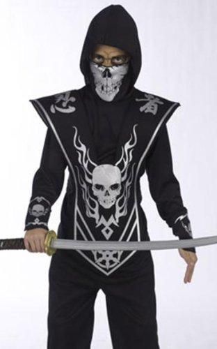 Skull Lord Ninja Child Costume, Multicoloured, Size Large