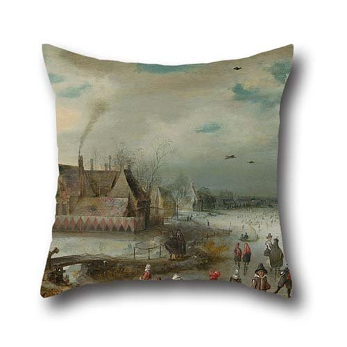 oil-painting-adam-van-breen-skating-on-the-frozen-amstel-river-pillowcover-20-x-20-inches-50-by-50-c
