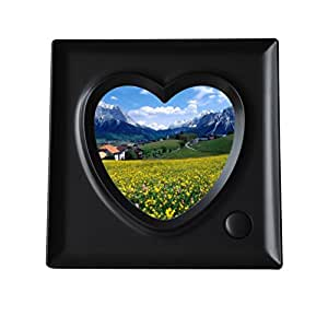 Generic Lovely 3.9x 3.9inch Heart-shaped Desk Photo Frame 9 Seconds' Voice Recorder
