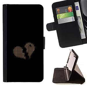 Momo Phone Case / Flip Funda de Cuero Case Cover - Ascii Código Corazón Amor binario - Samsung Galaxy S6