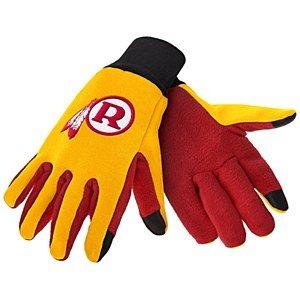 (Washington Redskins Retro Color Texting Gloves)