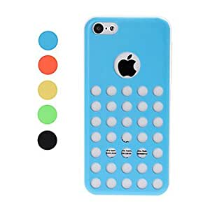 xiao Hollow Dot Design TPU Soft GEL Back Case Cover White Frame for iPhone 5C , Yellow