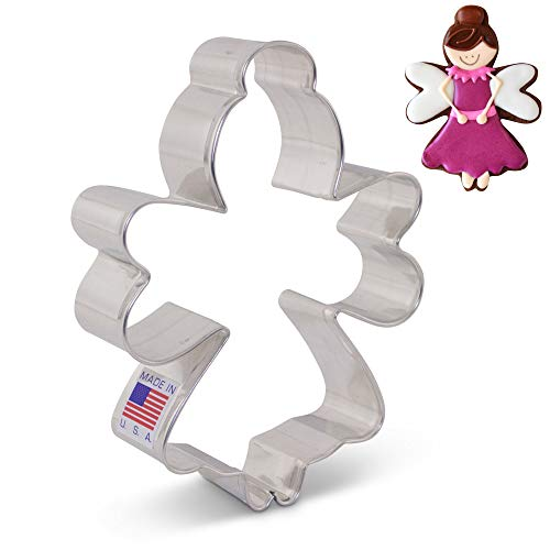 Sugar Plum/Tooth Fairy/Angel Cookie Cutter by LilaLoa - 4.25 Inch - Ann Clark - USA Made Steel (Halo Cookie Cutter)