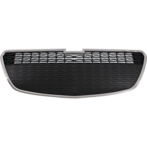 New Front Lower Grille For 2013-2015 Chevrolet Spark Chrome Shell With Black Insert, Without Fog Light Holes GM1200656