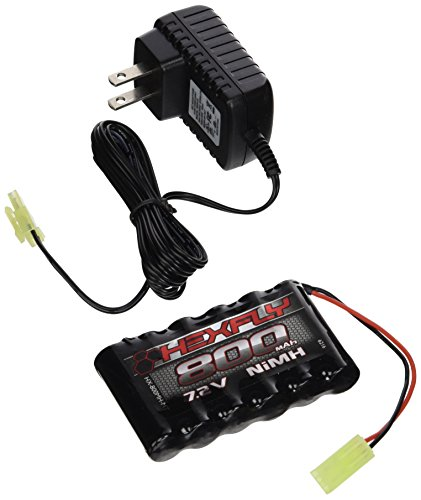 Danchee 7.2V 800mAh Ni-Mh Battery & Charger for Trail Hunter 1/12th Scale Remote Control Rock Crawler