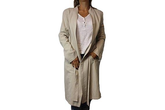 Drykorn Damen Mantel Foundry Gr. 38 Beige Coat Leinenmantel Jacke  H287 7e5c9f2e4a