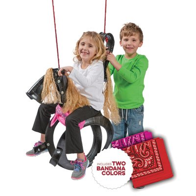 Pony Pal Recycled Tire Swing - Colors May Vary (Tire Horse)