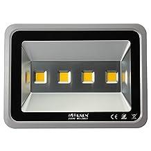 Morsen Indoor Outdoor 4 LED 200W Watt Led Flood Light Warm White Waterproof Parking Lot Light 85V-265V