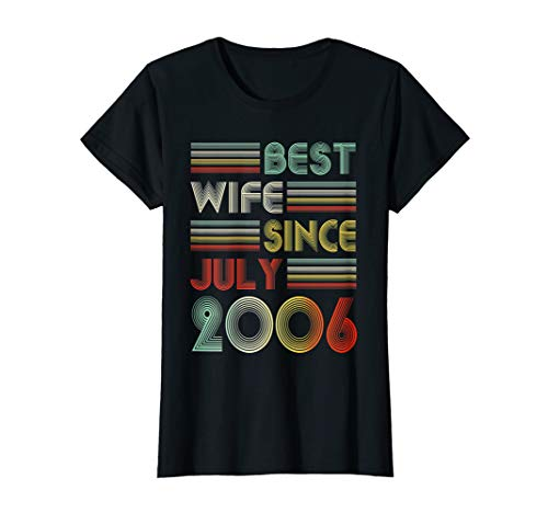 Womens 13th Wedding Anniversary Gifts Wife Since July 2006 T Shirt